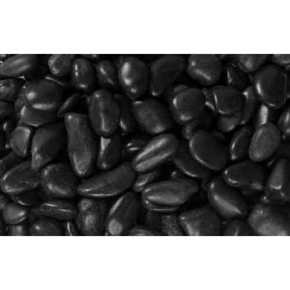 0.25 cu. ft. 0.5 in. to 1.5 in. 20 lbs. Black Grade A Polished Pebbles (108-Pack Pallet)