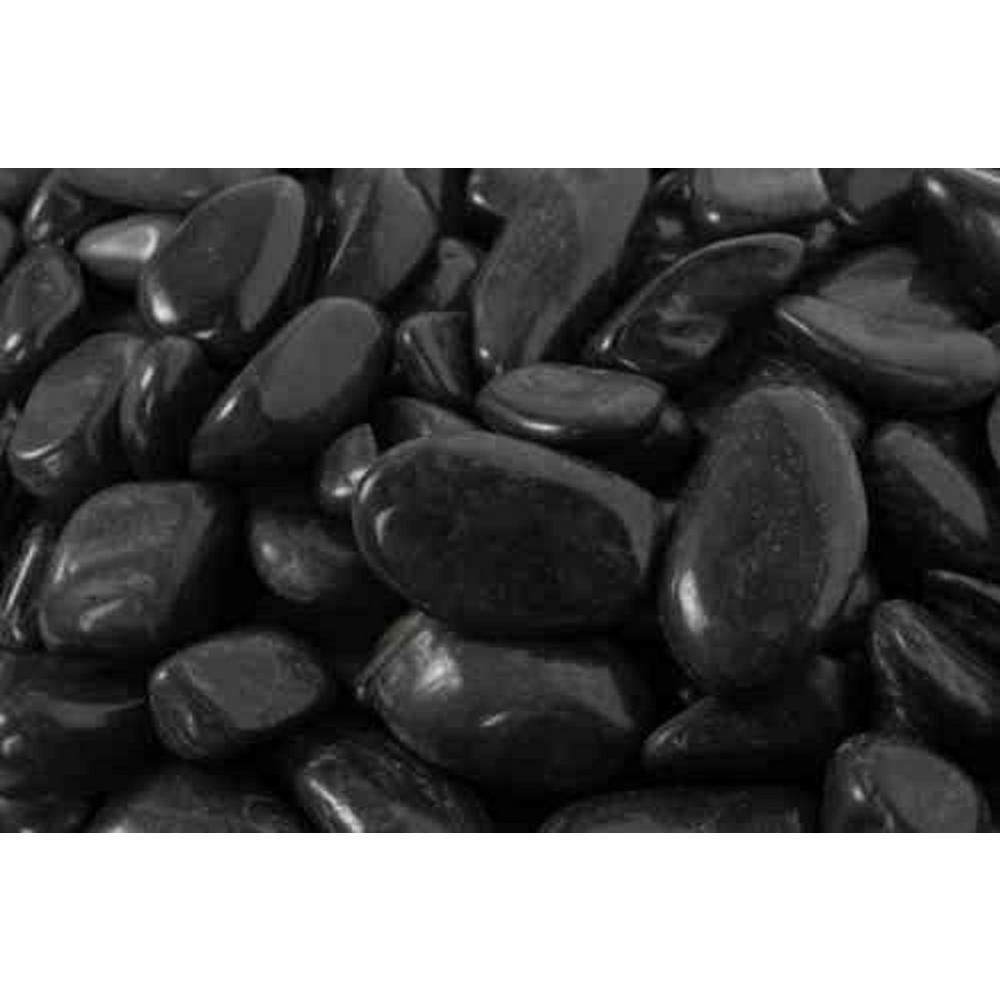 0.25 cu. ft. 1 in. to 2 in. 20 lbs. Black Super Polished Pebbles (54-Pack Pallet)