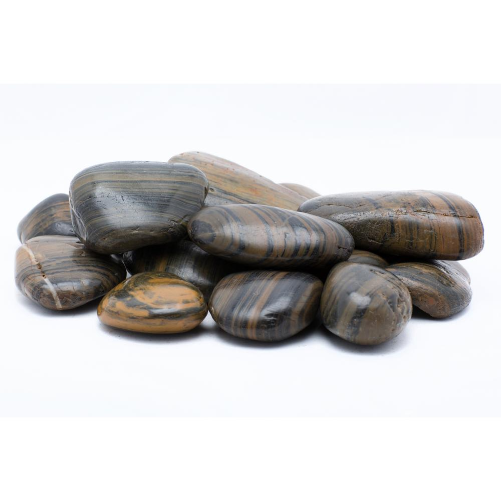 2 in. to 3 in. 2200 lb. Large Striped Grade A Polished Pebbles